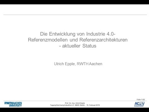 Referenzmodelle und Referenzarchitekturen - Video Startbild