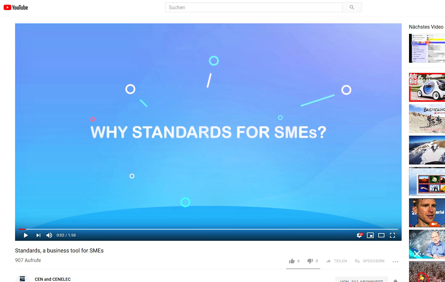 Standards for SMEs - Youtube Video